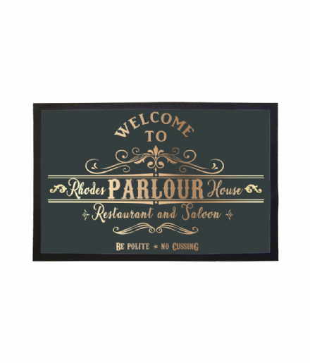Rhodes Parlour House Doormat Red Dead Redemption 2 Inspired Welcome Mat